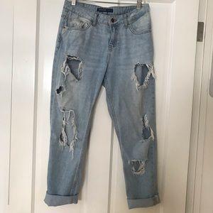 Zara Distressed Boyfriend Jeans 4